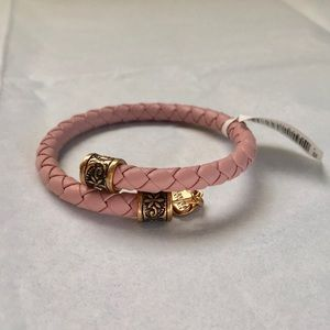 NWT Alex and Ani Begonia Braided Leather Bangle